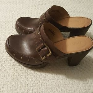 Born Leather heeled Mules/Clogs